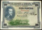 100 Pesetas 1.7.1925 Spanien P. 69 c / Serie F8,442,426 I-  50,00 EUR  zzgl. 6,00 EUR Versand