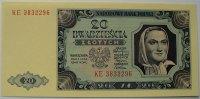 20 Zloty 1.7.1948 Polen P. 137 a / Serie KE 3832296 kfr  40,00 EUR  zzgl. 6,00 EUR Versand