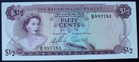 Bahamas 1/2 Dollar L.65/ND1965 kfr P. 17 a...
