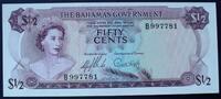 1/2 Dollar L.65/ND1965 Bahamas P. 17 a / Serie B997781 kfr  50,00 EUR  zzgl. 6,00 EUR Versand