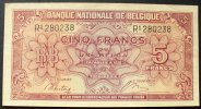 Belgien 5 Francs 1.2.1943 kfr P. 121