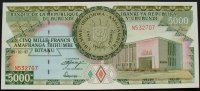 Burundi 5.000 Francs 5.2.1997 kfr P. 40 / ...