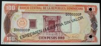 100 Pesos Oro 1995 Dominikanische Republik P. 150 s / Nr. 0215 kfr  28,00 EUR  zzgl. 6,00 EUR Versand