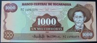 Nicaragua 1.000 Cordobas P. 156 b