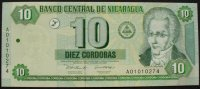 Nicaragua 10 Cordobas P. 191
