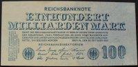 100 Mrd. Mark 26.10.1923 Deutschland Ros. 123 I-  22,00 EUR  zzgl. 4,00 EUR Versand