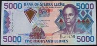 Sierra Leone 5.000 Leones 1.2.2002 kfr P. 27