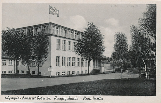 olympiade berlin 1936 deutsches reich drittes reich olympia postkarte olympisches dorf. Black Bedroom Furniture Sets. Home Design Ideas