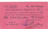 Deutsches Reich, Sachsen 200 Mio.Mark 12.Oktober 1923  stark gebraucht I... 39,99 EUR 