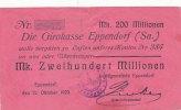 200 Mio.Mark 12.Oktober 1923 Deutsches Reich, Sachsen Eppendorf, Landge... 39,99 EUR  Excl. 7,00 EUR Verzending
