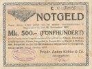 Deutsches Reich, Sachsen, 500 Mark Göppersdorf, Friedr.Anton Köbke,