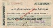 500ooo Mark 1923 Deutsches Reich, Sachsen, Flöha Plaue E.J.Clauss Nachf... 39,99 EUR  Excl. 7,00 EUR Verzending