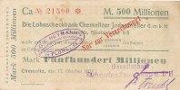 500 Mio. Mark 1923 Deutsches Reich, Sachsen, Flöha Gückelsberg   (Baumw... 39,99 EUR  Excl. 7,00 EUR Verzending