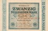 20 Mrd.Mark 1923 Deutsches Reich, Ro.115a Wz.Hakensterne KN 5 stellig r... 34,99 EUR  Excl. 7,00 EUR Verzending
