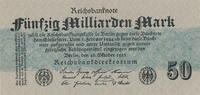 50 Mrd.Mark 1923 Deutsches Reich, Ro.122c Papier grau, ohne FZ leicht g... 29,99 EUR  zzgl. 1,80 EUR Versand