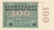 100 Mio.Mark 1923 Deutsches Reich, Ro.106m Wz.Hakensterne KN 8 stellig ... 149,99 EUR  zzgl. 7,00 EUR Versand