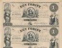 1 Forint 4 Stück 1852 Ungarn Bogen 1 Forint 18... Blanko, Vierer Block ... 89,99 EUR  Excl. 7,00 EUR Verzending