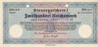 200 Reichsmark 1939 Deutsches Reich, Drittes Reich, Ro.717L Steuergutsc... 29,99 EUR  Excl. 4,00 EUR Verzending