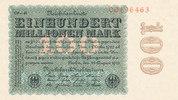 100 Mio.Mark 1923 Deutsches Reich, Inflation, 100 Mio.Mark Ro.106r  Fir... 69,99 EUR  zzgl. 4,00 EUR Versand