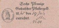 Sechs Pfennige 1845 Altdeutschland,Sachsen Ernestiner, Gotha, Thüringen... 34,99 EUR  Excl. 7,00 EUR Verzending