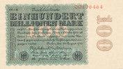 100 Mio.Mark 1923 Deutsches Reich, Weimarer Republik, Ro.106r Wz.Ringe ... 59,99 EUR  zzgl. 4,00 EUR Versand