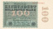 100 Mio.Mark 1923 Deutsches Reich, Weimarer Republik, Ro.106r Wz.Ringe ... 59,99 EUR  Excl. 7,00 EUR Verzending