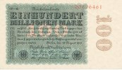 100 Mio.Mark 1923 Deutsches Reich, Weimarer Republik, Ro.106r Wz.Ringe ... 49,99 EUR  Excl. 7,00 EUR Verzending