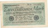 2 Billionen Mark 1923 Deutsches Reich, Weimarer Republik Ro.132a Wz.Hak... 89,99 EUR  zzgl. 4,00 EUR Versand