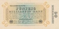 50 Mrd.Mark 1923 Deutsches Reich, Weimarer Republik Inflation, Ro.116h ... 29,99 EUR  zzgl. 1,80 EUR Versand