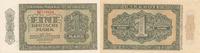 1 Mark 1948 Deutschland, DDR, Ro.340b UdSSR-Druck, 2 Buchstaben vor der... 34,99 EUR  Excl. 7,00 EUR Verzending