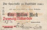 20 Mrd.Mark auf 1 Mio.Mark 1923 Deutsches Reich, Thüringen, Buttstädt, ... 29,99 EUR  Excl. 4,00 EUR Verzending