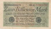 2 Billionen Mark 1923 Deutsches Reich, Weimarer Republik, Ro.132a Wz.Ha... 119,99 EUR  zzgl. 7,00 EUR Versand