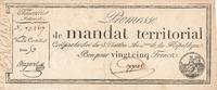 25 Francs (1796) Frankreich, Assignat, gebraucht III+,  49,99 EUR  Excl. 7,00 EUR Verzending