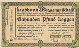 100 Pfund Roggen 1923 Deutsches Reich, Brandenburg, Cottbus, Landbund R... 59,99 EUR  zzgl. 4,00 EUR Versand