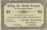 6 Kreuzer 1849 Österreich, Böhmen Braunau, Joseph Fischer, Blanko, leic... 39,99 EUR