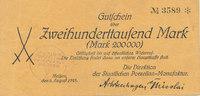 200000 Mark 1923 Deutsches Reich, Sachsen, Meissen, Stadt, Staatliche P... 49,99 EUR  Excl. 7,00 EUR Verzending