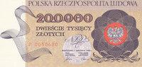 200000 Zlotych 1989 Polen 1 Buchstabe vor KN, Kassenfrisch I  49,99 EUR