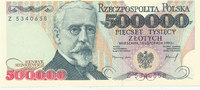 500000 Zlotych 1993 Polen 1 Buchstabe vor KN, Kassenfrisch I  39,99 EUR  Excl. 7,00 EUR Verzending