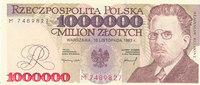 1000000 Zlotych 1993 Polen  Kassenfrisch I  39,99 EUR  Excl. 7,00 EUR Verzending