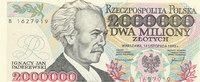 2000000 Zlotych 1993 Polen  Kassenfrisch I  59,99 EUR  Excl. 7,00 EUR Verzending
