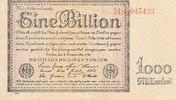 1 Billion Mark 1923 Deutsches Reich, Weimarer Republik, Ro.131b Firmend... 79,99 EUR  zzgl. 4,00 EUR Versand