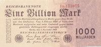 1 Billion Mark 1923 Deutsches Reich, Weimarer Republik, Ro.126b Firmend... 84,99 EUR  Excl. 7,00 EUR Verzending