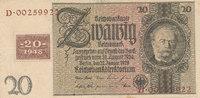 20 Reichsmark 1929 mit Kupon, 1948 Deutschland,Sowjetische Besatzungszo... 34,99 EUR