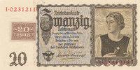 20 Reichsmark 1939 mit Kupon, 1948 Deutschland,Sowjetische Besatzungszo... 54,99 EUR  Excl. 7,00 EUR Verzending