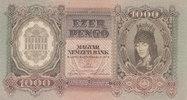 1000 Pengö 1943 Ungarn Deutsche Besatzung im II.Weltkrieg, fast Kassenf... 12,99 EUR