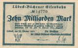 10 Milliarden Mark 1923 Deutsches Reich,Weimarer Republik, Lübeck-Büche... 39,99 EUR  Excl. 7,00 EUR Verzending
