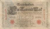 1000 Mark 1909 Deutsches Reich, Kaiserreich,  gebraucht III-,Ecke anges... 29,99 EUR  Excl. 4,00 EUR Verzending