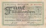 5 Milliarden Mark 1923 Deutsches Reich,Provinz Sachsen, Magdeburg, Stad... 29,99 EUR  Excl. 4,00 EUR Verzending