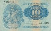 10 Krooni 1937 Estland  gebraucht III+,  29,99 EUR  Excl. 4,00 EUR Verzending