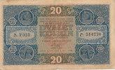 20 Kronen 1919 Tschechoslowakei  stark gebraucht IV-,Mittelloch, Einris... 99,99 EUR  zzgl. 4,00 EUR Versand